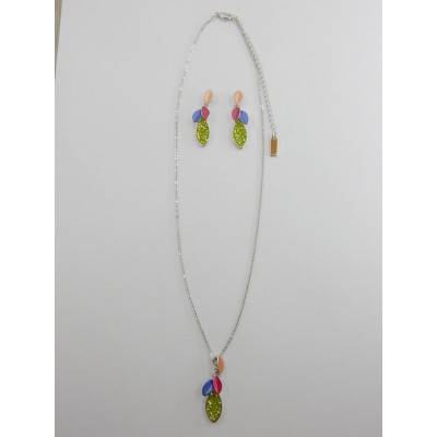 ENSEMBLE COLLIER VIRGULE KT MULTI