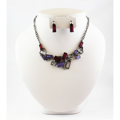 ENSEMBLE COLLIER BERRY MAUVE MULTI