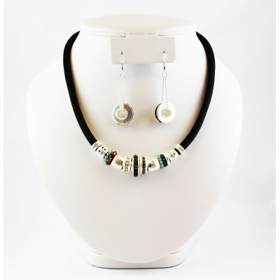 ENSEMBLE COLLIER CYCLONE ARGENT