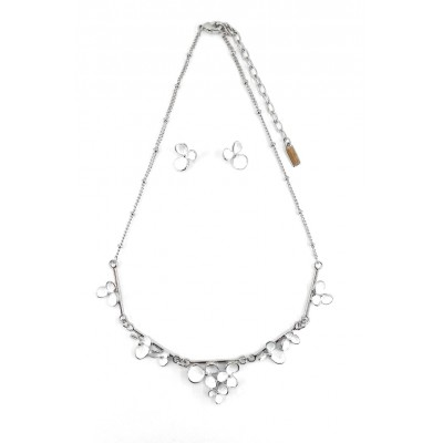 ENSEMBLE COLLIER FLEURETTE BLANC