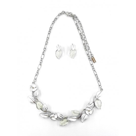 ENSEMBLE COLLIER JASMINE BLANC