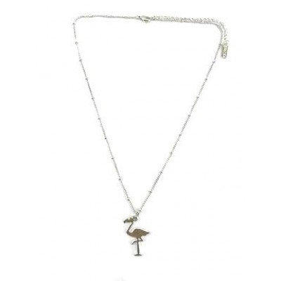 Collier Flamingo Argent