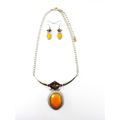 ENSEMBLE COLLIER CAPUCINE JAUNE