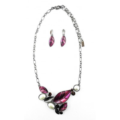 ENSEMBLE COLLIER ROYALTY FUSHIA