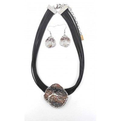 ENSEMBLE COLLIER SALIK ARGENT